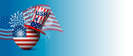 Vector USA 4 july independence day design.