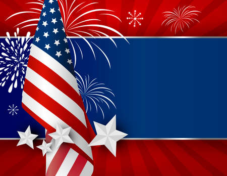USA background design of American flag for 4 july independence day or other celebration Illustration