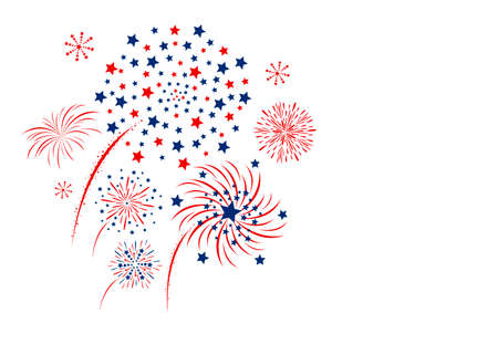 copy space: Vector firework design isolated on white background Illustration
