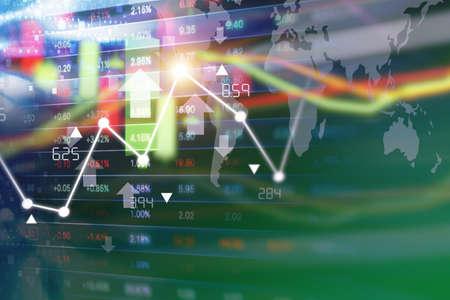 Stock market background design
