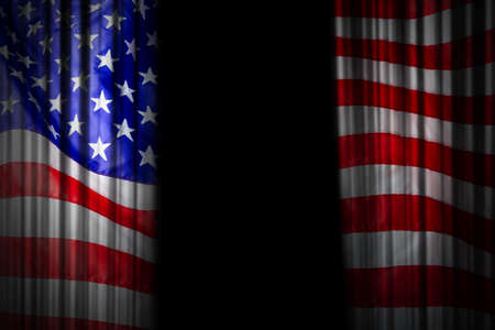 USA stage curtain background design of american flag Stock Photo