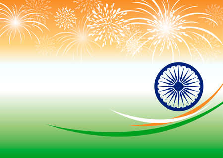 Vector india independence day background design with copy space