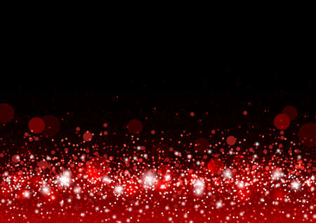 Vector christmas background concept design of red gitter and shiny