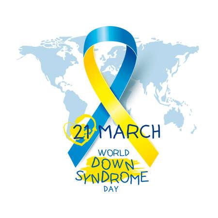 21 maart, de dag vectorillustratie van het wereld onderaan syndroom. Stockfoto - 88226635