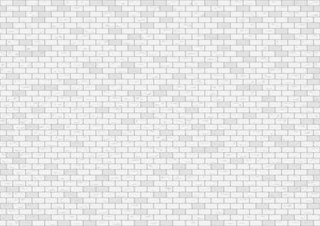 White brick wall pattern background, vector illustration.