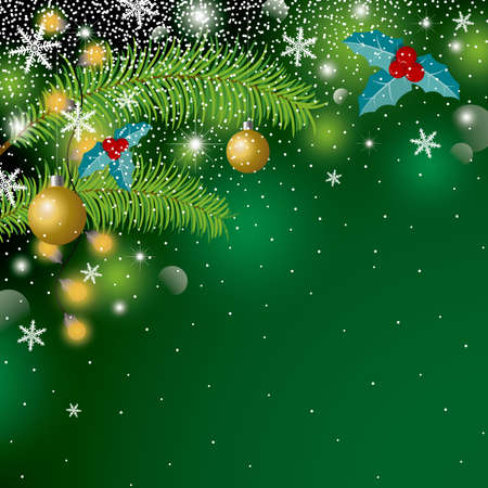 Christmas background design with copy space vector illustration