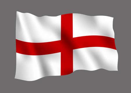 Engeland vlagpictogram. Stock Illustratie