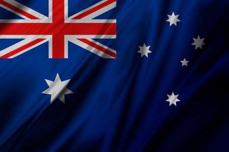 Australia flag of fabric background illustration