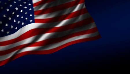 USA or America flag design at night Stock Photo