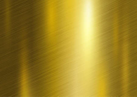 Gold metal texture background vector illustration.