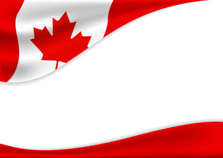 Canada day banner background design of flag with copy space vector illustration