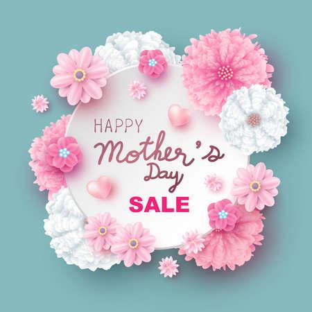 Projekt sprzedaży kwiatów ilustracji wektorowych na dzień matki