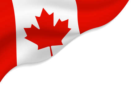 Canada flag isolated on white background with copy space vector illustration Illustration