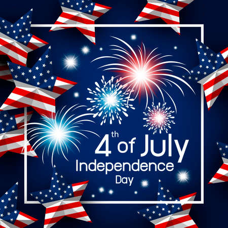 USA 4th of july happy independence day vector illustration Banco de Imagens - 104003796
