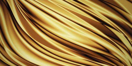 Fond de tissu de luxe or avec espace de copie Banque d'images