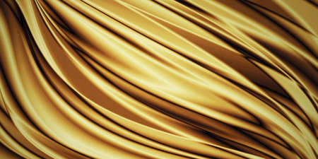 Gold luxury fabric background with copy space Banque d'images