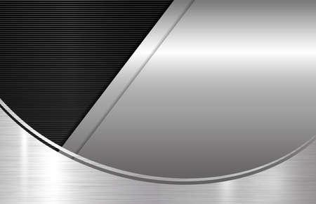 Metal background with copy space Ilustração Vetorial