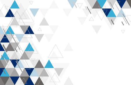 Abstract geometric background design of triangle vector illustration Illustration