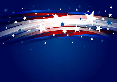 Abstract USA background design of line gradient and star 4th of july independence day vector illustration