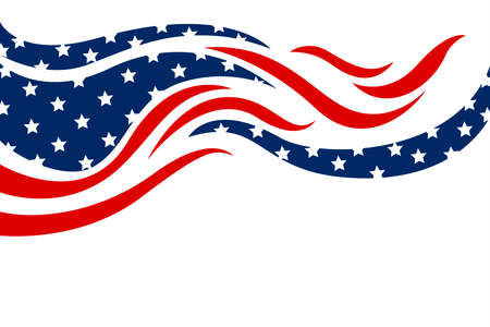 Abstract USA flag background vector illustration