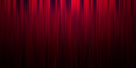 Red stage curtain background Stock Photo