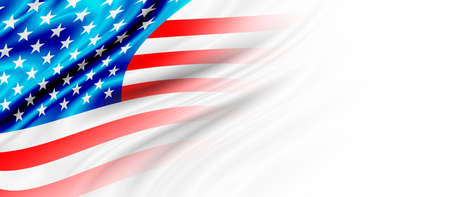 USA or america flag background with copy space 免版税图像