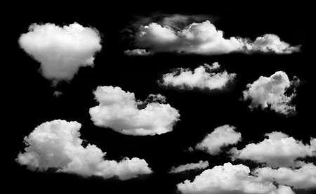 Cloud isolated on black background 免版税图像