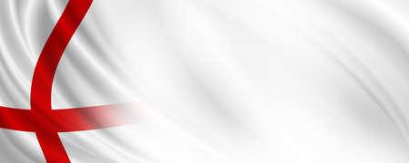 England flag banner design with copy space 3D illustration 免版税图像