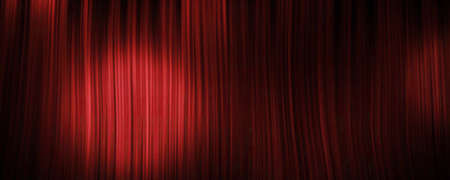 Red curtain background with spotlight