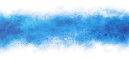 Blue watercolor on white background illustration