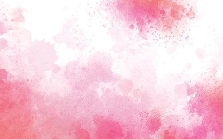 Pink watercolor on white background illustration 免版税图像