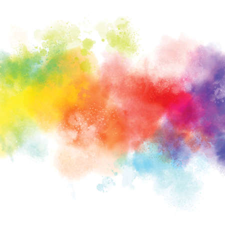 Cllorful watercolor on white background illustration