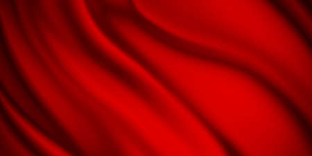 Red luxury fabric background with copy space 免版税图像