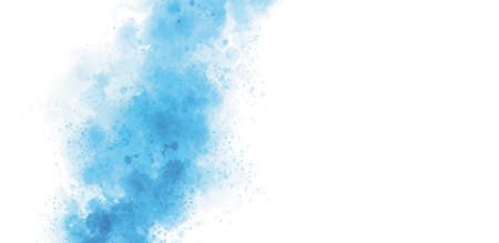 Blue watercolor on white background vector illustration