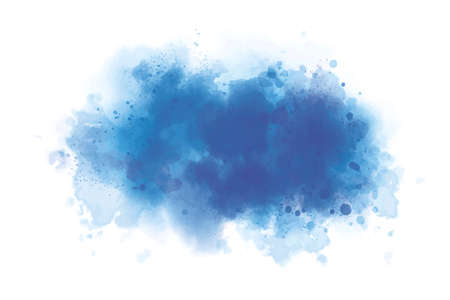 Blue watercolor on white background grunge style vector illustration