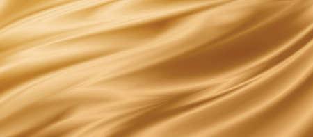 Gold fabric texture background 3D illustration 免版税图像