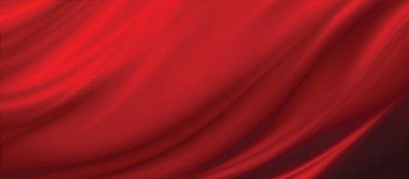 Red fabric texture background 3D illustration 免版税图像