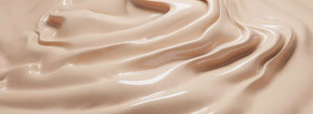 Cosmetic foundation cream texture background 3D render 免版税图像