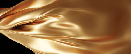 Gold fabric texture background 3D render