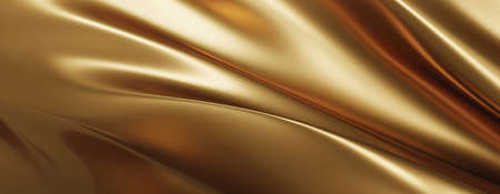 Gold fabric background 3D render 免版税图像