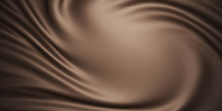 Brown fabric background with copy space 3D render