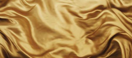 Gold luxury fabric background with copy space 3D render 免版税图像