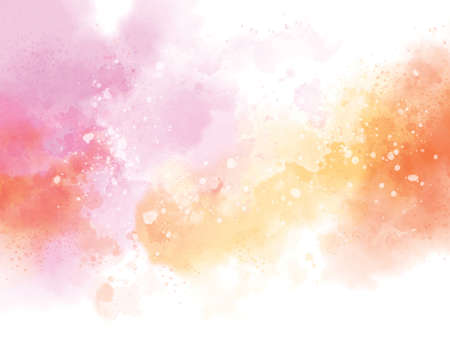 Abstract watercolor on white background illustration