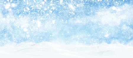 Christmas background design of snow falling winter season illustration