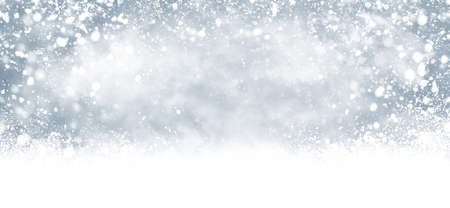 Winter and christmas background design of snow falling illustration