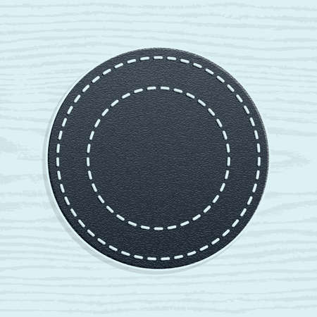 100 button with arrow sign. Set 01. Hexagon icon with shadow on beige paper texture background. Simple minimal, flat, solid, mono, plain style. Vector illustration web internet design element 10 eps Vector