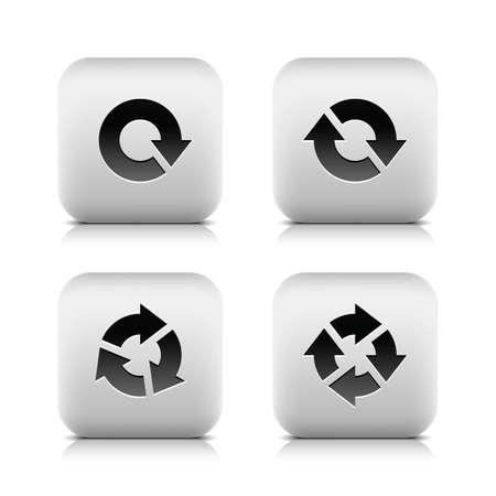 designator: 100 bot?n con el signo de la flecha. Set 01. Icono de Hexagon con la sombra en fondo beige textura de papel. M?nima simple, llano, s?lido, mono, estilo llano. Ilustraci?n vectorial elemento de dise?o web de internet 10 EPS Vectores