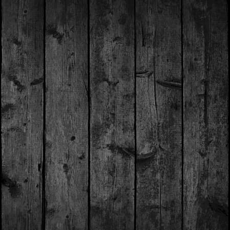 Realistic texture wood planks with natural structure. Empty black and white background square size. Vector illustration design elements Vetores