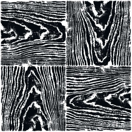 timber floor: Wood texture background. White and black colors natural pattern swatch template. Realistic plank with annual years circles. Backdrop size square format. Vector illustration design elements 8 eps Illustration