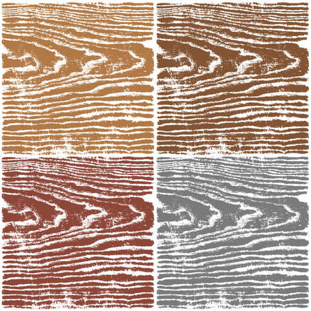 Wood texture background. Set 03 Empty natural pattern swatch template in four colors. Vector illustration design elements 8 eps